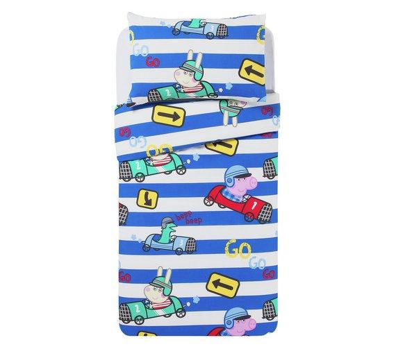 Peppa Pig George\ happy pink Bed in a bag set ( duvet+ pillow+ duvet cover + pillowcase ) £16.99 @ Argos