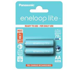 Enloop Lite 950 mAh Rechargeable AA Batteries - 2 Pack @ Argos - £3.99