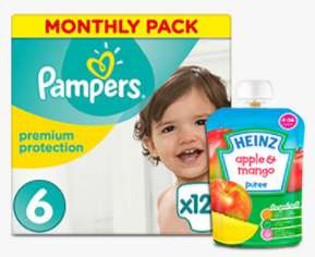 Amazon Prime 20% off selected Nappies and Baby food using Subscribe and Save