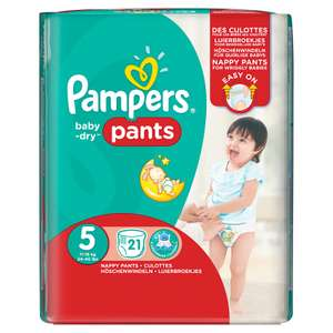 Pampers Baby Dry Pants Size 5 Carry Pack £2 @ Asda