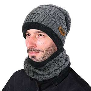 Vbiger Warm Knitted Hat and Circle Scarf Skiing Hat Outdoor Sports Hat Sets £8.99 @ Delivery £3.99 for non Prime Members Sold by FutureTown and Fulfilled by Amazon.