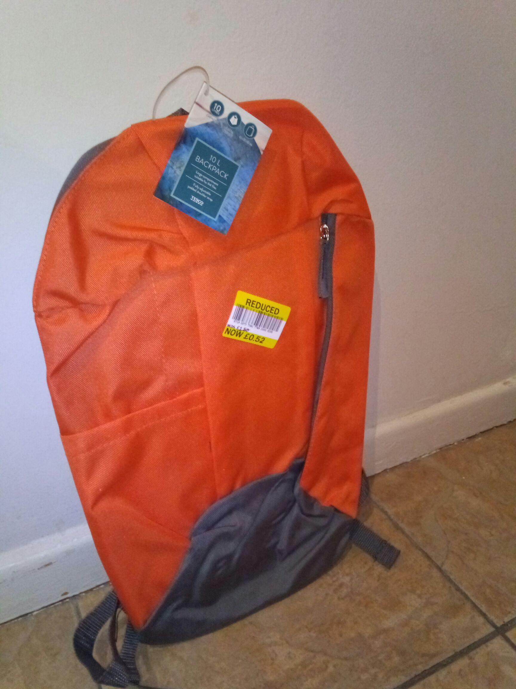 10L Backpack (instore only) Tesco Knocknagoney - N.Ireland
