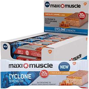 Maximuscle Cyclone High Protein and Creatine Bar, Chocolate Caramel, 60 g, Pack of 12 £10.50 / £9.98 S&S @ Amazon