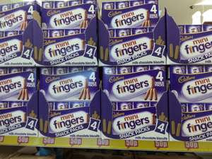 Poundland Cadbury's Chocolate Fingers Minis 4 pack, 140g / 5 Pack of Mcvities Hob Nob Bars / 5 Pack Penguin Cake Bars all 50p each