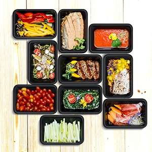 1 Compartment BPA Free Meal Prep Containers / Lunch Box Set [Large 1000ml] (Black) £7.11 Prime £11.10 Non Prime Sold by I Innovate and Fulfilled by Amazon