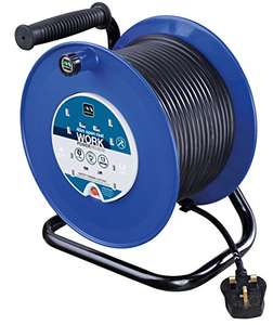 Masterplug HDCC4013/4BL 40 m 4 Socket 13 amp Open Cable Reel with Thermal Cut Out and Reset Button £38.75 @ Amazon