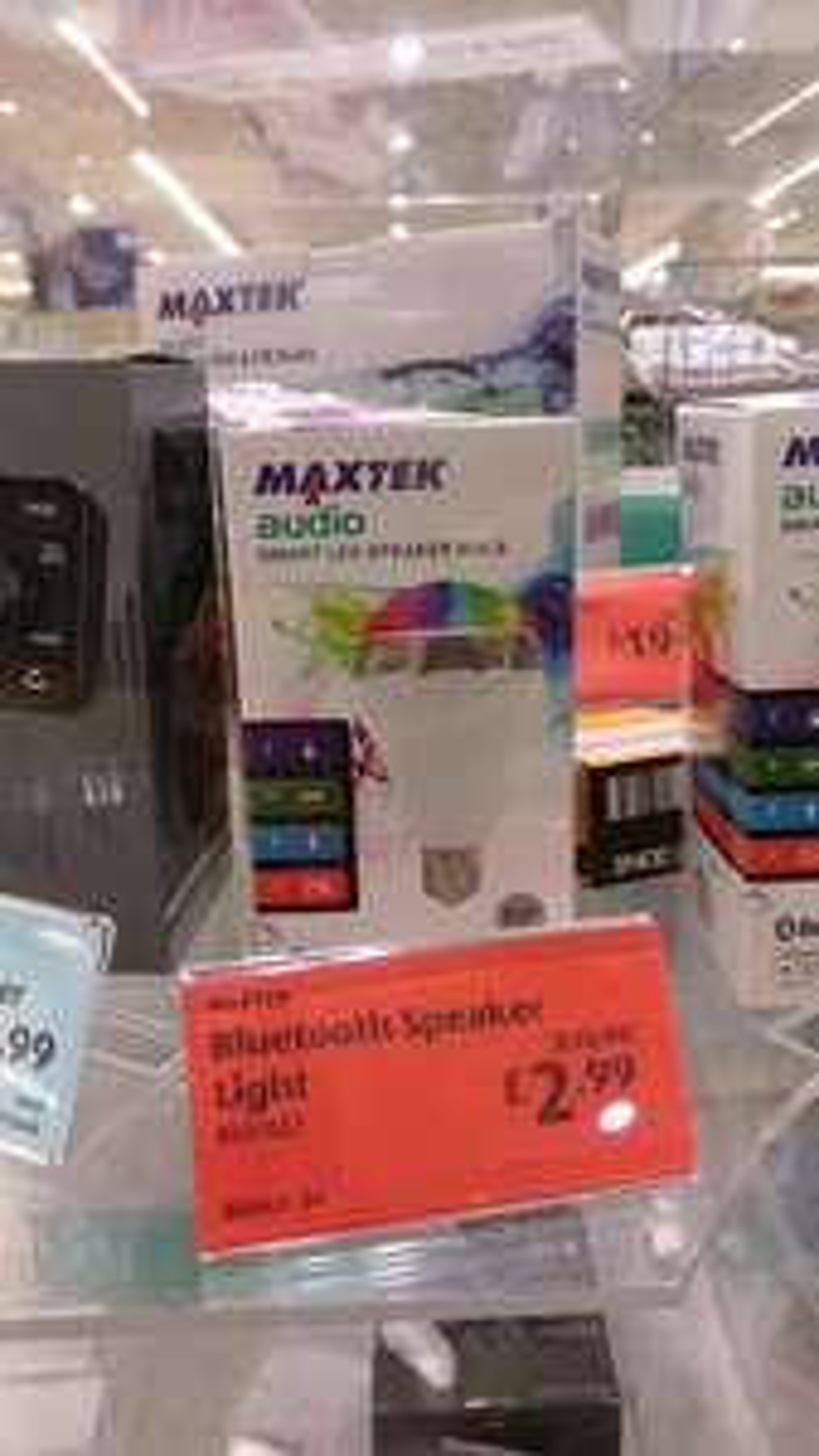 MAXTEK audio bluetooth LED bulb and speaker - £2.99 @ Aldi