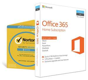 Microsoft Office 365 Home (5-users 1-year licence) & Norton Security (3 Devices) £53.99 @ Argos
