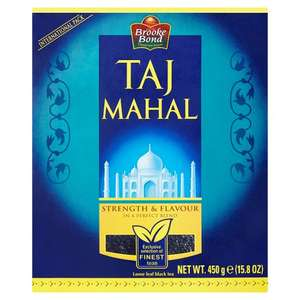 Taj Mahal Loose Leaf Black Tea 450G 1/2 Price now £1.75 @ Tesco
