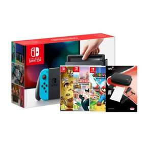 Switch Neon/Gray w/ Mario Rabid +Monopoly+Rayman+Travel Pack (Switch)   , for £319.99 delivered @ Grainger Games