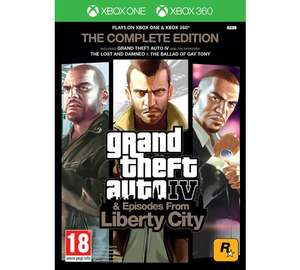Grand Theft Auto IV Complete Edition Xbox 360 Xbox One £9.99 @ Argos