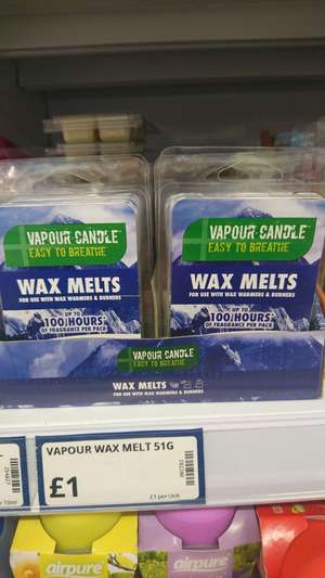 Vapour candle easy to breathe wax melts for colds/blocked noses £1 instore @ Poundstretcher