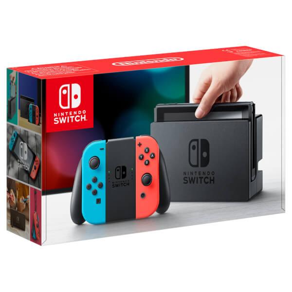 Nintendo Switch Neon + Mario & Rabbids + Joy-Con Comfort Grips £289 at Tesco Direct