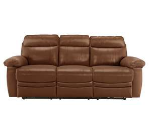 Collection New Paolo 3 Seater Power Recliner Sofa £388.54 Delivered with code SOFA20 – Tan at Argos