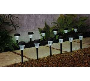 HOME Set of 12 LED Solar Lights - Black + Free click and collect at Argos