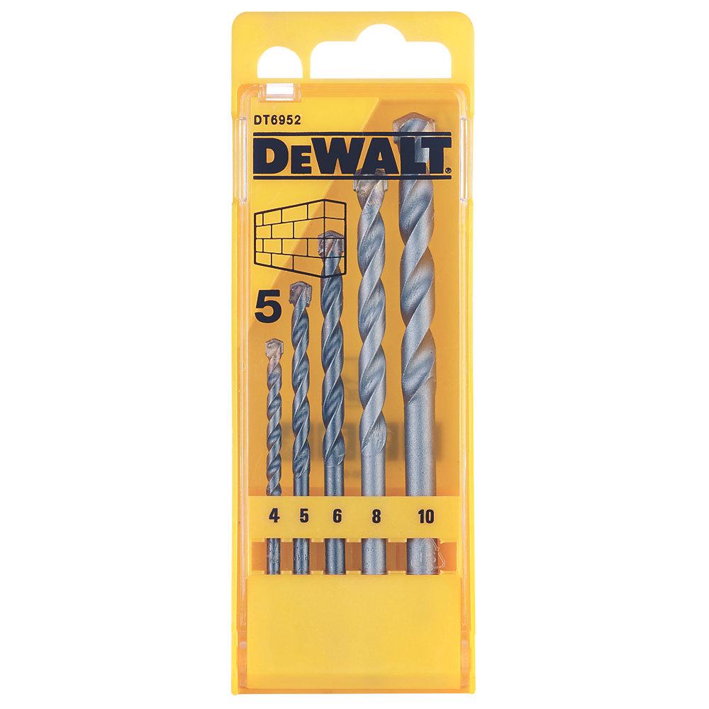 DEWALT 5 PIECE MASONRY DRILL BIT SET - £3.99 @ Screwfix (free C&C)