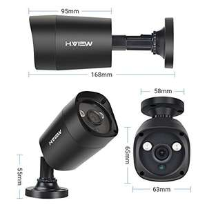 CCTV Systems with 2 Cams - £135.99 - Sold by H.View Offical Store and Fulfilled by Amazon