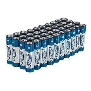 PowerMaster 827540 Ultra+ Power Alkaline Battery - AA - Pack of 40 - £6.85 Prime / £11.60 non Prime @ Amazon