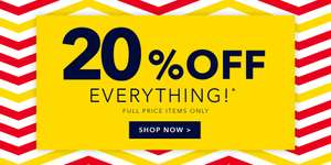 20% Everything at Peacocks.