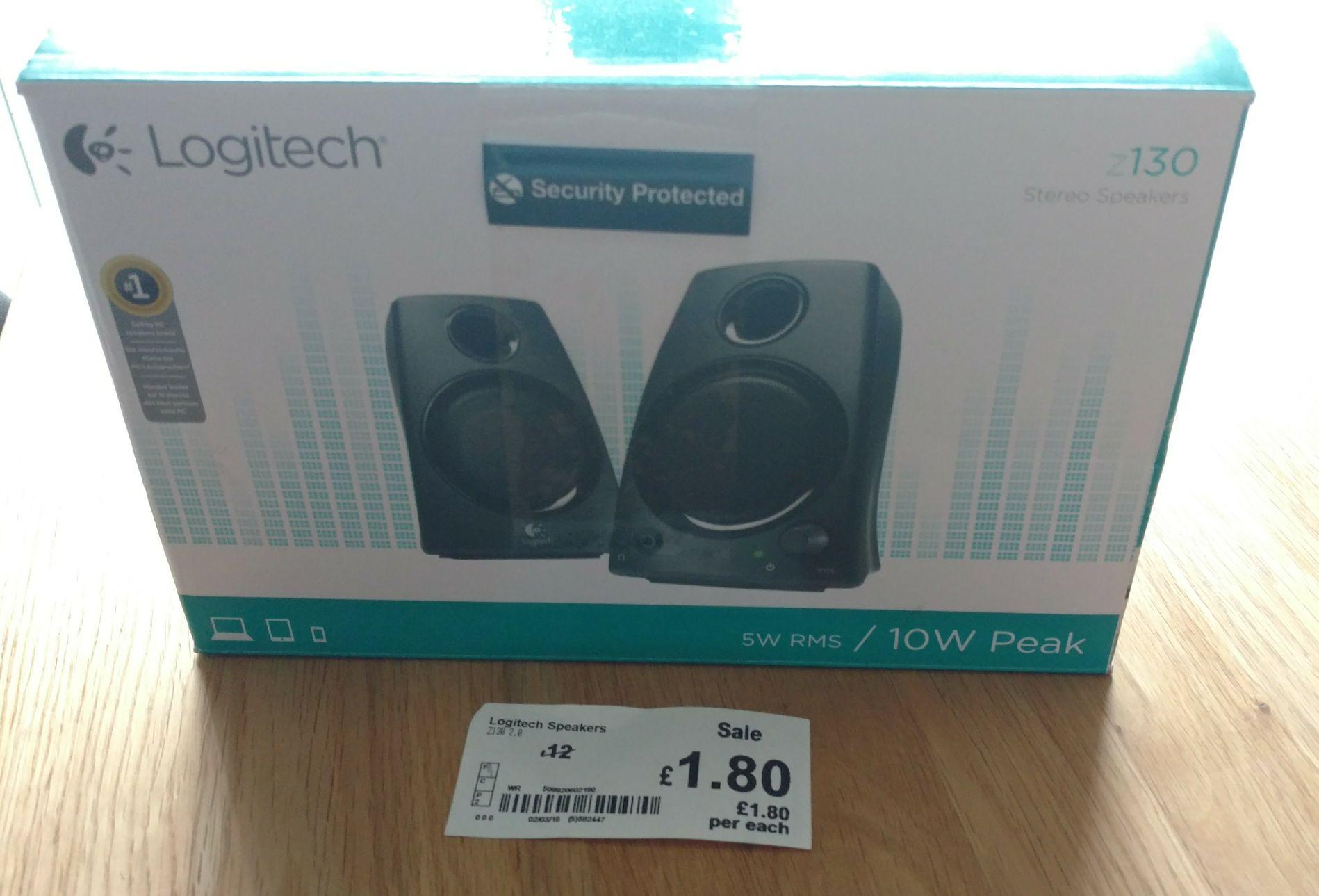 Logitech Z130 PC speakers £1.80 in store @ Asda