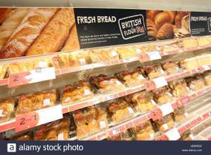 Sainsburys FRESH bread reduced - from 75p instore