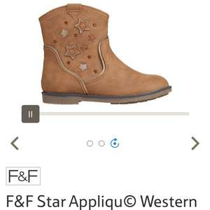 F&F Star Appliqu© Western Ankle Boots - £6 (free C&C) @ Tesco Direct