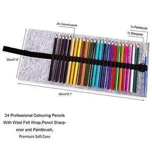 Travel Pencil Kit. 24 Pencils, a paintbrush, a pencil sharpner and a carry case, just £6.99 Prime / £10.98 non Prime - Sold by SanerDirect and Fulfilled by Amazon