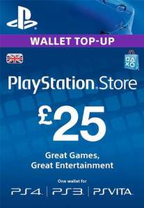 £25 PLAYSTATION NETWORK PRE PAID CODE £25 STORE CARD - £21.80 @ Electronic First