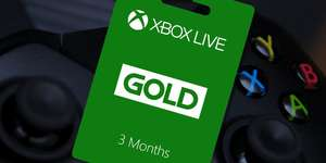 Xbox Live Gold  3 Month Subscription  £13.03 @ StackSocial