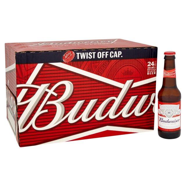 Budweiser Twist Pop 24 pack £12 @Asda