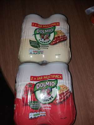 Twin pack dolmio lasagne sauces white and red £1.50 Tesco