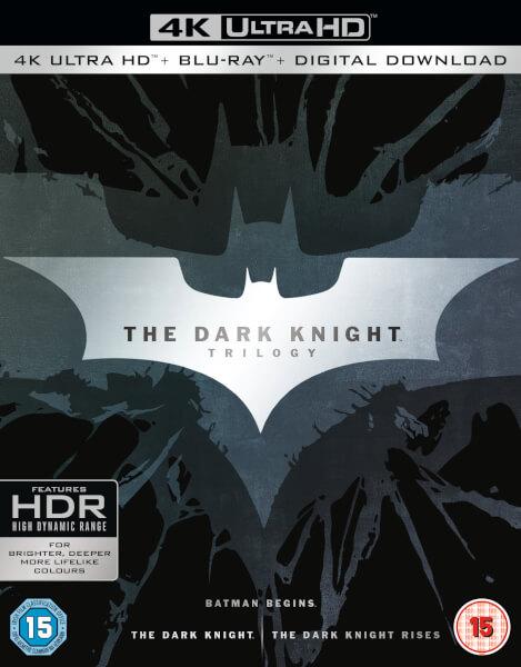 The Dark Knight Trilogy - 4K Ultra HD Blu-ray (code can be used on many 4K films at Zavvi) £35.99