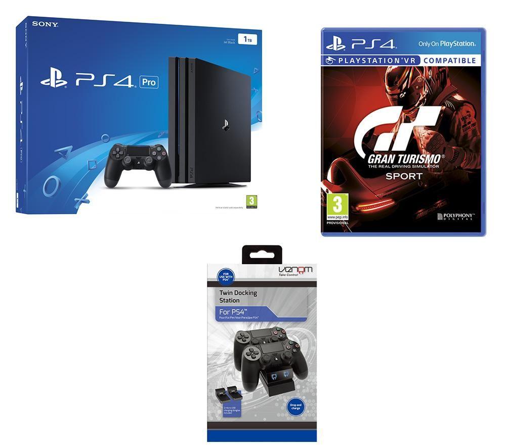 SONY PlayStation 4 Pro, Gran Turismo Sport & Twin Docking Station Bundle £359 @ Currys
