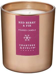 Crabtree & Evelyn Red Berry and Fir Candle, Large, 200g £8.32 Prime / £7.90 S&S @ Amazon
