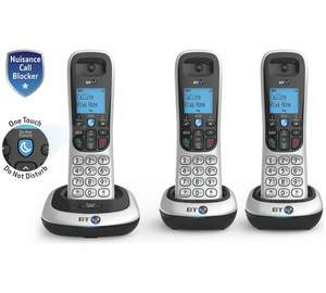 BT 2200 Cordless Telephone - Triple+ - £43.99 & Free click and collect at Argos