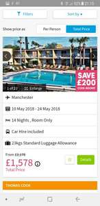 Florida holiday - 2 Adults / 3 Children - MCR Airport - 10th to 24th May - £1,378 via Thomas Cook