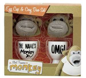 Monkey Egg Cup and Knitted Cosy Duo Set £2.79 @ Argos