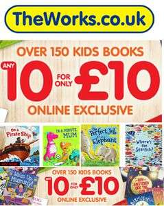 10 Books for £10 from The Works (free C&C)