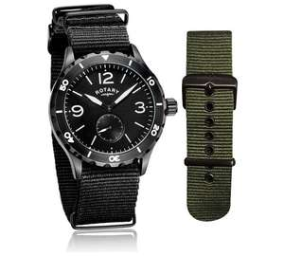 Less than 1\2 price,Rotary men's chronograph watch + 2 straps + lifetime guarantee £43.99 was £89.99 @ Argos