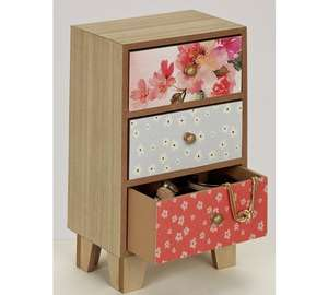Vintage Boutique 3 Drawer Floral Storage Box £14.99 + Free click and collect at Argos