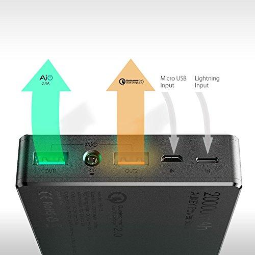 AMAZON, AUKEY 20000 mAh Quick Charge 2.0 Power Bank BARGAIN! £10.99 Prime / £14.98 Non Prime @ Amazon