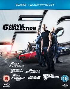 Fast & Furious 1-6 (Blu-Ray With UltraViolet Copy) £8.95 Delivered (Using Code) @ Zoom