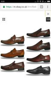Red Tape Real Leather Slip On Dress Shoes From £11.99 + Free P&P - expresstrainers ebay