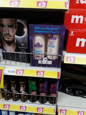 Aussie miracle moist shampoo and conditioner twin pack £2 @ Poundland