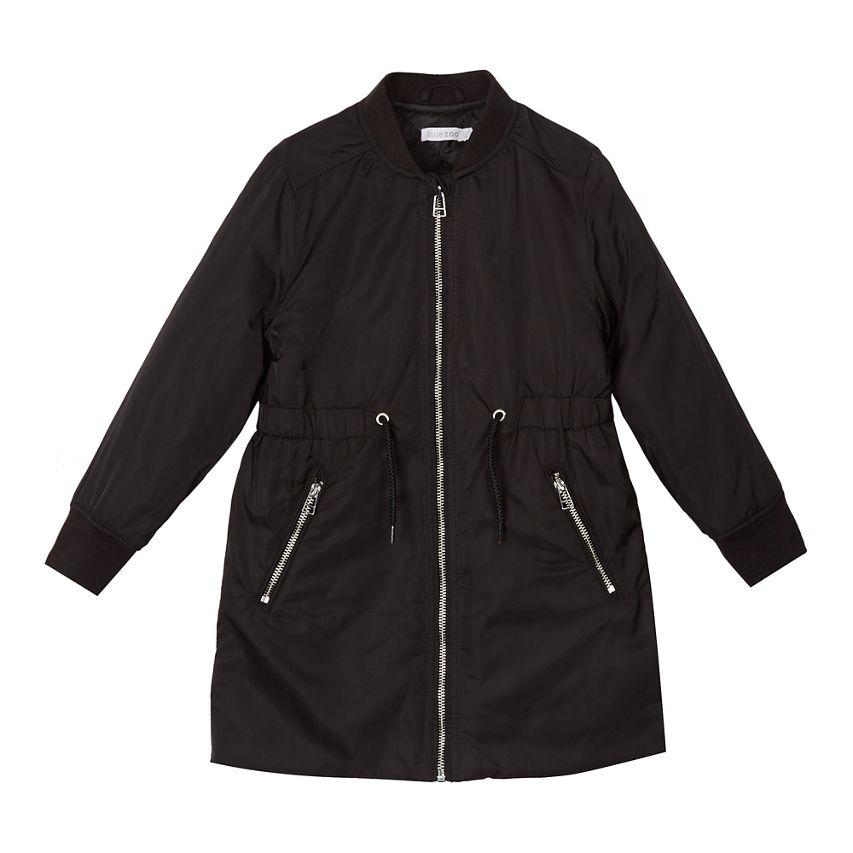 Girls' black padded coat was £32.00 only £9.60 - Debenhams