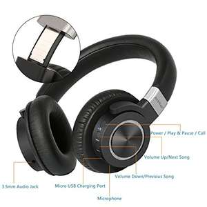 High Clarity Wireless Headphones Bluetooth 4.2 Over-ear, Aptx, 50 hour battery - Sold by AzkMaster and Fulfilled by Amazon - £39.99