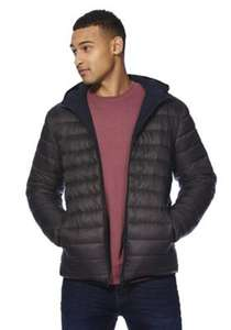 Padded hooded reversible mens shower resistant jacket sizes S- 4XL £20 @ Tescodirect