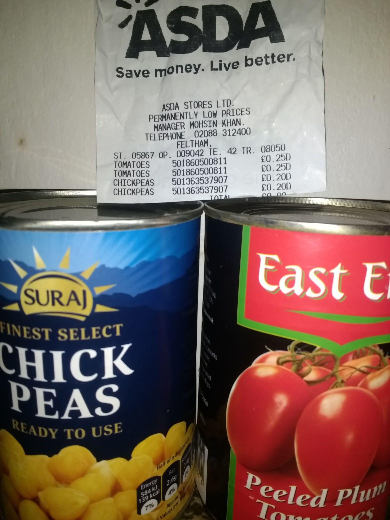 Chick Peas can  20p instore @ Asda (Feltham)