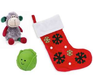 Argos Dog Stocking & Toys £3.99 (was £13.99)