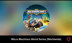Micro Machines World Series (Worldwide) for £1.10 @Instant-Gaming / £13.85 (Xbox one) @Shopto